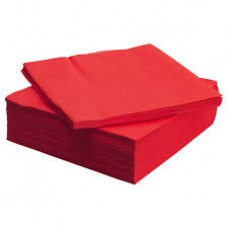 Red Dinner 40x40cm Napkins 4 Fold 2ply x 2000