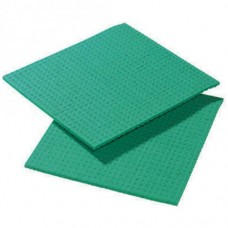Cellulose Sponge Cloth, Green Pack 10