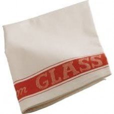 Linen Union Glass Cloth 50 x 76cm Red, x 10