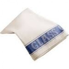 Linen Union Glass Cloth 50 x 76cm Blue, x 10
