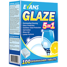 Evans Glaze All in One Dishwasher Tablet x 120