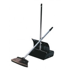 Black Enamel Lobby Dustpan & Brush Set