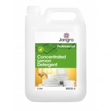 Jangro Concentrated Lemon Detergent - Washing Up 5 litre