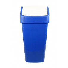 Indoor Slimline Bin c/w Swing Lid - Blue