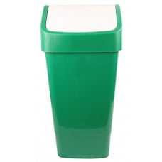 Indoor Slimline Bin c/w Swing Lid - Green