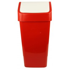 Indoor Slimline Bin c/w Swing Lid - Red