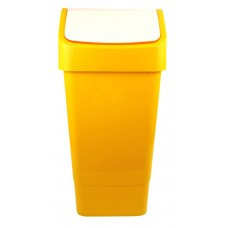 Indoor Slimline Bin c/w Swing Lid - Yellow