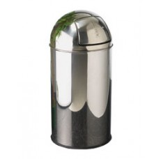 Bullet Push Bin 35Litre Polished Stainless Steel