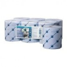 Tork Centrefeed Wiper Roll 2ply Blue x 6